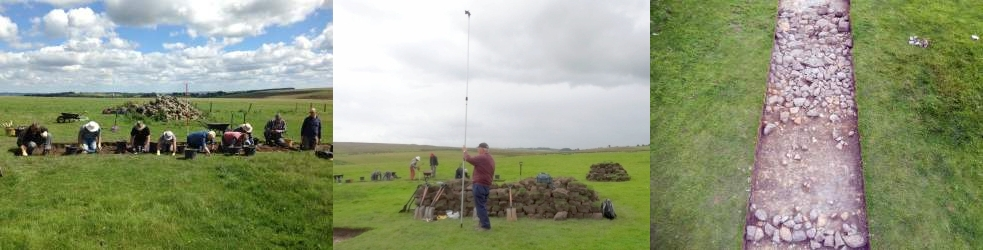 August 2016 Hexham Fell 'Lost Roman Road' Excavation lead by Paul, Martin and Greg