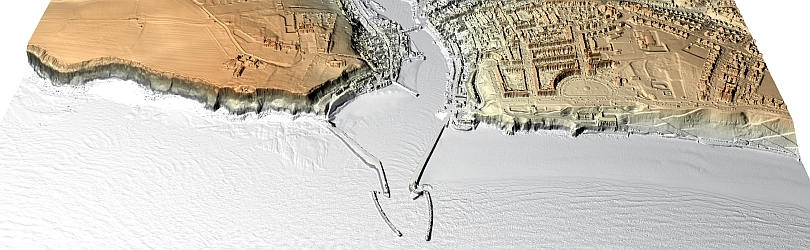 3D Lidar model of Whitby