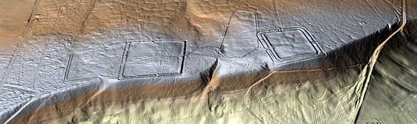 3D LiDAR model of Cawthorn Roman Camps